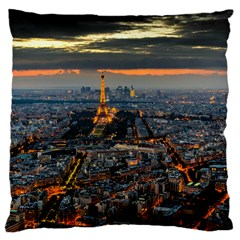 Paris From Above Large Flano Cushion Cases (one Side)