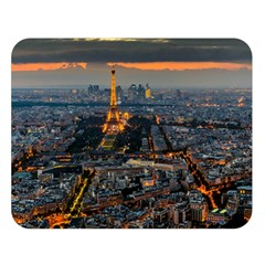 PARIS FROM ABOVE Double Sided Flano Blanket (Large)