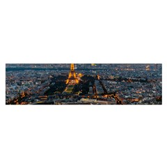 PARIS FROM ABOVE Satin Scarf (Oblong)