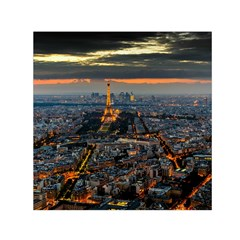 Paris From Above Small Satin Scarf (square)