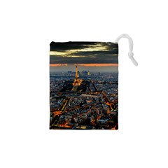 Paris From Above Drawstring Pouches (xs)