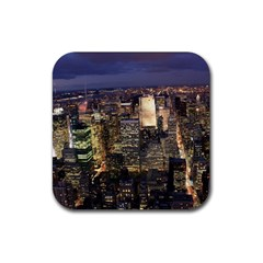 New York 1 Rubber Square Coaster (4 Pack)