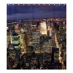 NEW YORK 1 Shower Curtain 66  x 72  (Large)