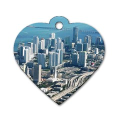MIAMI Dog Tag Heart (Two Sides)