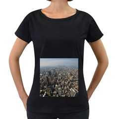 MANHATTAN 2 Women s Loose-Fit T-Shirt (Black)
