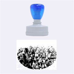 MANHATTAN 2 Rubber Oval Stamps
