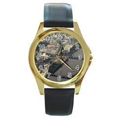 LONDON Round Gold Metal Watches