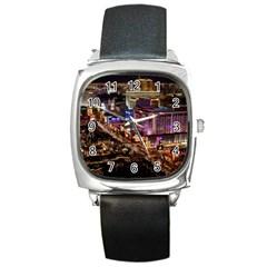 Las Vegas 2 Square Metal Watches