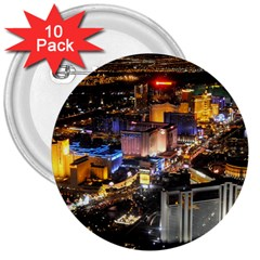 LAS VEGAS 1 3  Buttons (10 pack)