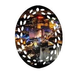 Las Vegas 1 Oval Filigree Ornament (2 Side)