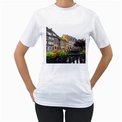 Colmar France Women s T Shirt (white) (two Sided)