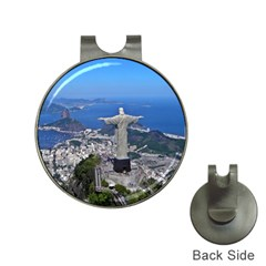 CHRIST ON CORCOVADO Hat Clips with Golf Markers