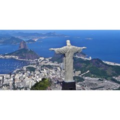 CHRIST ON CORCOVADO YOU ARE INVITED 3D Greeting Card (8x4)