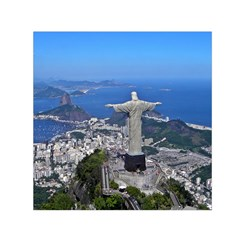 Christ On Corcovado Small Satin Scarf (square)