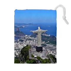 Christ On Corcovado Drawstring Pouches (extra Large)