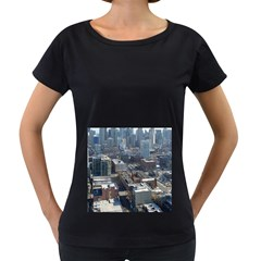 CHICAGO Women s Loose-Fit T-Shirt (Black)
