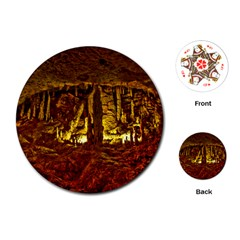 Volcano Cave Playing Cards (round)