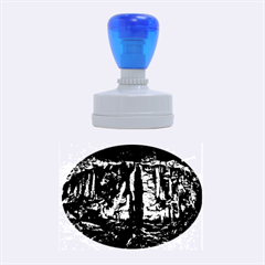 VOLCANO CAVE Rubber Oval Stamps