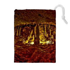 Volcano Cave Drawstring Pouches (extra Large)