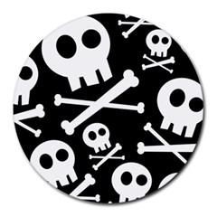 Cute Skulls Round Mousepads