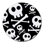 Cute Skulls Round Mousepads Front