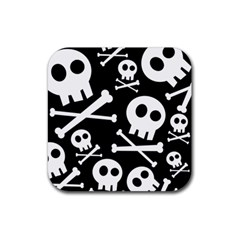 Cute Skulls Rubber Square Coaster (4 Pack)