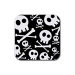 Cute Skulls Rubber Square Coaster (4 pack)  Front
