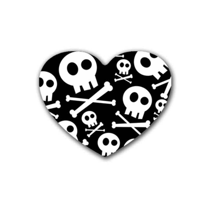 Cute Skulls Heart Coaster (4 pack)