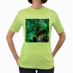 Reed Flute Caves 3 Women s Green T Shirt