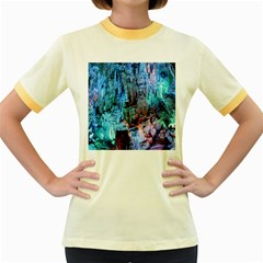 Reed Flute Caves 3 Women s Fitted Ringer T Shirts