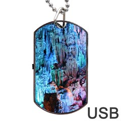 REED FLUTE CAVES 3 Dog Tag USB Flash (Two Sides)