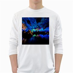 REED FLUTE CAVES 2 White Long Sleeve T-Shirts