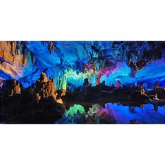 Reed Flute Caves 2 You Are Invited 3d Greeting Card (8x4)