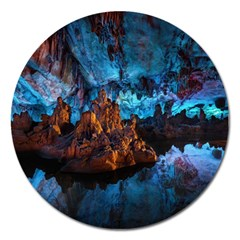 Reed Flute Caves 1 Magnet 5  (round)