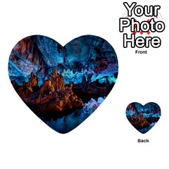 REED FLUTE CAVES 1 Multi-purpose Cards (Heart)