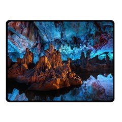 Reed Flute Caves 1 Fleece Blanket (small)