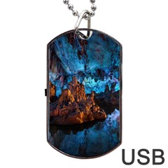 Reed Flute Caves 1 Dog Tag Usb Flash (one Side)