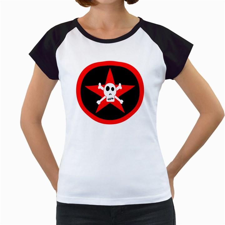 Star Skull Women s Cap Sleeve T