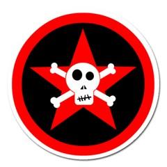 Star Skull Magnet 5  (round)