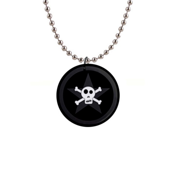Star Skull Button Necklaces