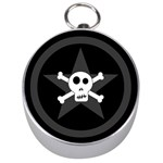 Star Skull Silver Compasses Front