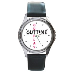 Outtime / Outplay Round Metal Watches