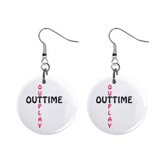 Outtime / Outplay Mini Button Earrings