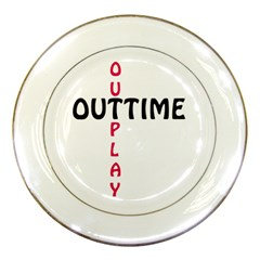 Outtime / Outplay Porcelain Plates