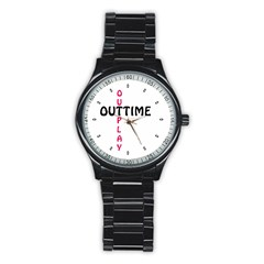 Outtime / Outplay Stainless Steel Round Watches