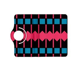 Rhombus And Stripes Pattern			kindle Fire Hd (2013) Flip 360 Case