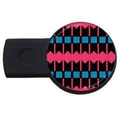 Rhombus and stripes patternUSB Flash Drive Round (1 GB)
