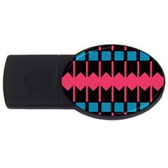 Rhombus and stripes pattern			USB Flash Drive Oval (2 GB)