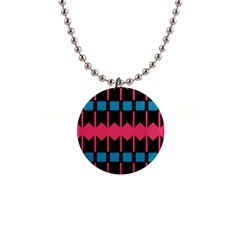 Rhombus And Stripes Pattern			1  Button Necklace