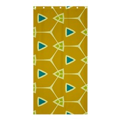 Connected Trianglesshower Curtain 36  X 72